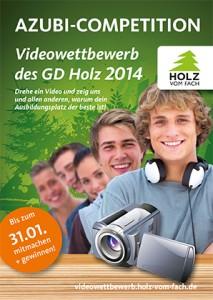 Flyer zum GD Holz Azubi Videowettbewerb 2014