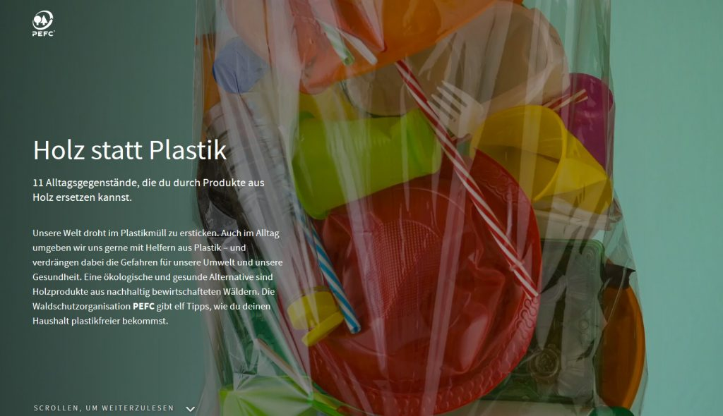 Holz statt Plastik